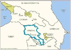 Peta Armenia modern