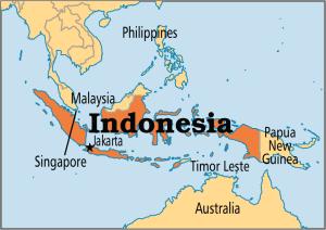 Peta Negara Indonesia dan para tetangganya