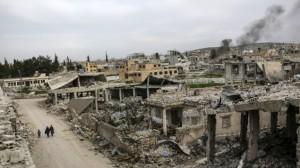 Kota Kobani Syria 27 Maret 2015 AFP