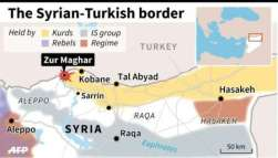 Peta konflik antar Islam di perbatasan Syria-Turki Pertengahan 2015